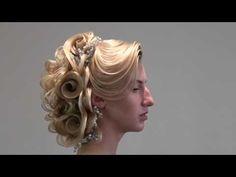 Hair tutorial, wedding, bridal, hairstyle, updo, FARRUKH SHAMURATOV - YouTube