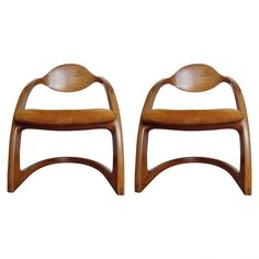Pair of Wendell Castle Zephyr Chairs | From a unique collection of antique and modern chairs at https://www.1stdibs.com/furniture/seating/chairs/