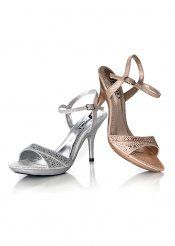 Arrive at your special occasion with grace and elegance in the heavenly Julie Lynn peep toe pump.Satin upper.Beautiful draped bow detail.Lightly padded footbed.Covered heel and hidden platform.   Style- Lynn   Heel size- 3   Size- 5.5-11   Price- $72.5   Color- Silver, White   Availability: Ships within 2 to 5 Days