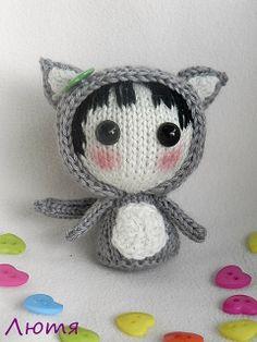 Ravelry: lutya-g's Gray Girl-Cat ( knitted round )