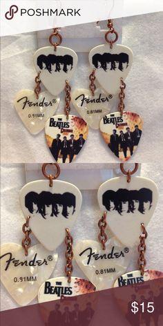 Beatles Guitar Pick Earrings Handmade Jewelry Earrings