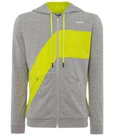 Head - Herren Tennis Sweatshirt Swift Zip Hoody #head #sports #neon