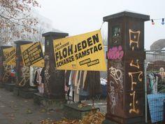 Flohschanze: Der Flohmarkt rund um die Alte Rinderschlachthalle ganzjährig jeden Samstag - Neuer Kamp 30