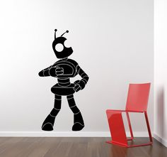 Hey, I found this really awesome Etsy listing at http://www.etsy.com/listing/96214151/robot-wall-decal-robot-doing-the-robot