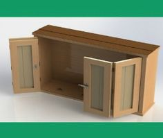 Attrayant Outdoor TV Cabinet With Double Doors Building Plan