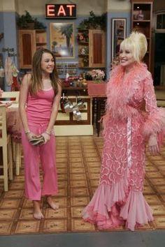 Miley Cyrus and Dolly Parton