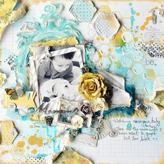 Scrapbook page with texture and dimension