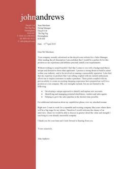 template of a cover letters