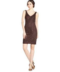 Sue Wongchocolate sleeveless beaded embellished dress
