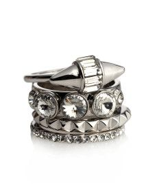 { Stiletto Spike Stack Rings }