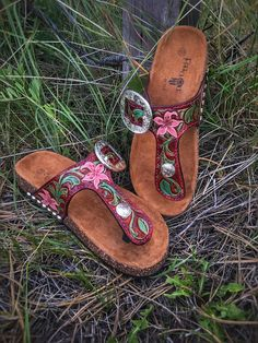 Made To Order Custom Tooled Leather Sandals