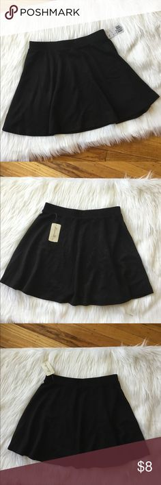 NWT - Forever 21 Black Mini Skater Skirt Brand new with tags. Adorable and flirty Forever 21 black mini skater skirt!  Size: Small Forever 21 Skirts Mini