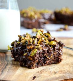 Whole Wheat Chocolate Fudge Zucchini Snack Cake with Candied Pistachios | 30 Delicious Things To Cook In September