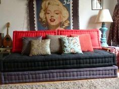 "Love the flexibility of big pillows as a ""futon"""