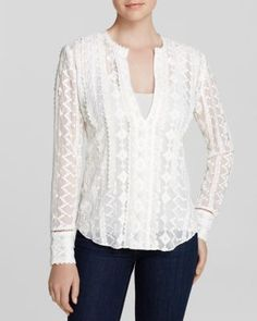 Rebecca Taylor Top - Embellished Chiffon | Bloomingdale's
