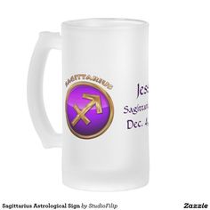 Sagittarius Astrological Sign 16 Oz Frosted Glass Beer Mug   17% OFF Everything   Enter promo Code PUSHYOURLUCK at checkout   Offer is valid through March 17, 2016 11:59PM PT.