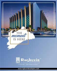 The moment you have always wanted to be in.. the moment your soul is longing for.. the moment where you & your loved ones can be together under the roof you call yours..THAT MOMENT IS RIGHT HERE!  #RaghivirDevelopers #RaghuvirScarlett