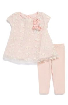Pippa+&+Julie+Lace+Dress+&+Leggings+(Baby+Girls)+available+at+#Nordstrom