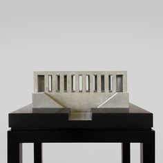 Omnes Eodem Cogimur sculpture (2010) by Renato Nicolodi. Archetypical architecure. It could be a modern interpretation (by David Chipperfield) of a Greek temple.