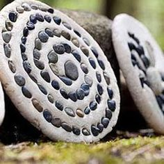 Spiral Goddess salt dough plaque. I plan to do this with rocks we discovered on the beach.