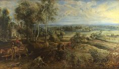 """Peter Paul Rubens:  """"A View of Het Steen in the Early Morning"""" 1636, National Gallery of Art, London"""