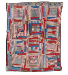 1940's Wonky Log Cabin Quilt