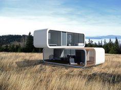 Haus am hang mit unterirdischer tiefgarage modern for Mini fertighaus gunstig
