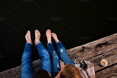 Young Couple on the Wood Dock by Roman Trofimiuk on @creativemarket