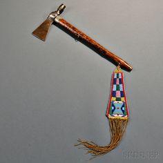 Plains Pipe Tomahawk with Beaded Drop.   Auction 2893B   Lot 154   Estimate…