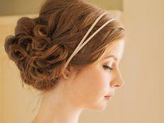 Double Bridal Headband / Embroidered Grecian by DavieandChiyo, $32.00