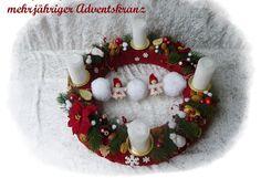 Adventskranz  47cm  aus Floristenhänden mehrjährig von Die Geschenkidee auf DaWanda.com