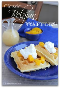 Classic Belgian Waffles. Quick, easy, light and airy.