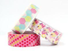 Washi Masking Tape 3er SET SUMMER POP