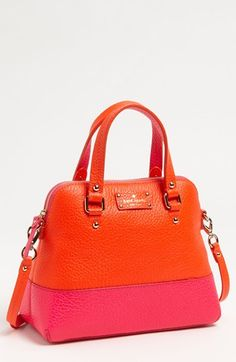 kate spade new york 'grove court - maise' satchel available at Nordstrom Kate Spade Black Tote, Kate Spade Diaper Bag, Leather Crossbody, Leather Handbags, Crossbody Bag, Magenta, Kate Spade Designer, Designer Totes, Designer Handbags