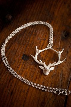 Devotion Deer Silver Stag Necklace by Angel Court for BourbonandBoots.com