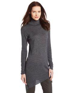 Asymetric Hem Turtle Neck Sweater by Magaschoni Turtle Sweaters 8da9a15e065