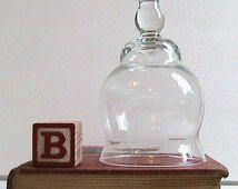 Dôme de verre clair Vintage Cloche affichage