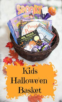 Halloween basket ideas for kids - Kids halloween reading - Read more: http://www.sparklesandstretchmarks.com/2015/10/kids-halloween-basket-spooky-reads.html