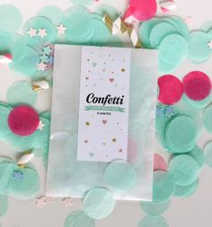 Pink & Mint  combination Confetti -  tissue paper confetti - wedding decorations - sweetable- table decoration - new years eve party