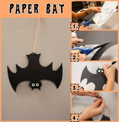 Paper Bat Craft | Celebrate Halloween with these 14 not-so-scary crafts for kids!