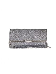JIMMY CHOO Glitter Clutch Bag. #jimmychoo #bags #clutch #shoulder bags #lining #hand bags #glitter #cotton #