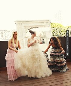 Bride and Bridesmaids, Ruffle Dresses | CHECK OUT MORE IDEAS AT WEDDINGPINS.NET | #weddings #weddinginspiration #inspirational