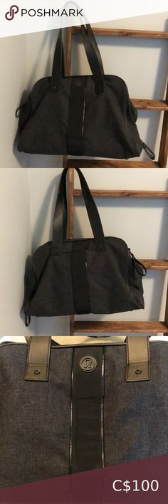 "Lululemon ""two times a yogi"" wool yoga/tote Two times a yogi. Grey and black wool and acrylic with 3 large zippered section with more compartments inside. Removable yoga mat/towel strap included. One of the handles has a tear but doesn't effect the integrity of the bag, otherwise great condition. Open to reasonable offers or bundle and save more lululemon athletica Bags Totes Small Tote Bags, Large Tote, Red And Black Plaid, Black Wool, Lululemon Bags, Day Bag, Black Tote Bag, Womens Tote Bags, Integrity"