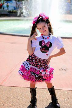 Minnie Mouse Ruffle Skirt AllegroFabrics Sewing Kit Sizes 2-7 years