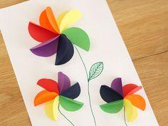 Knutselen met papier. Vouw deze vrolijke bloemen of maak één van de andere 9 knutselideeën.