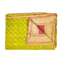 Toyesh Silk Kantha Quilt