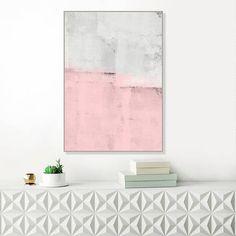 Pink and Grey Abstract Art Large Modern Art Print Printable
