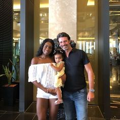 Patrick Mouratoglou and family #interracial#tennis