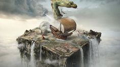 Image for Surreal 3D Fantasy Art Boats Widescreen Wallpaper
