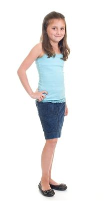 Hard Tail Denim Wash Girls Knee Skirt This cute denim skirt is 90% cotton and 10% lycra.